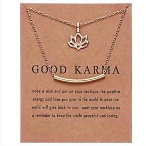 Custom Order - 4 Karma Lotus Bar Necklaces